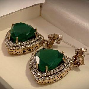 Jewelry - EMERALD REULEAUX Oz EARRINGS Solid 925 Silver/Gold